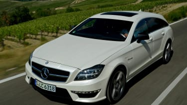 Mercedes CLS 63 AMG Shooting Brake front tracking