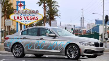 BMW 5 Series Personal CoPilot autonomous prototype static