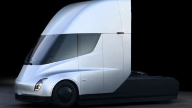 Tesla lorry - electric truck revealed - grey