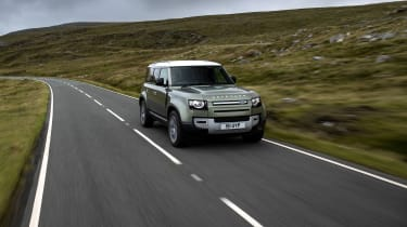 Land Rover Defender P400e PHEV - front tracking