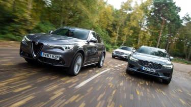 Alfa Romeo Stelvio vs Volvo XC60 vs Mercedes GLC - header