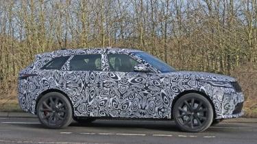 Range Rover Velar SVR spy shot side profile