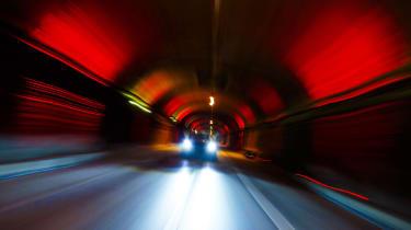Jaguar F-Type SVR Tunnel Run - front
