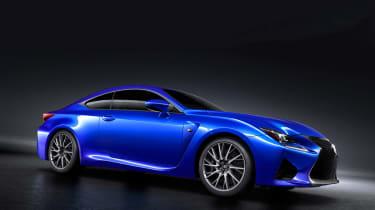 Lexus RC F V8 coupe side 1