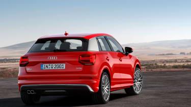 Audi Q2 Red rear 3/4