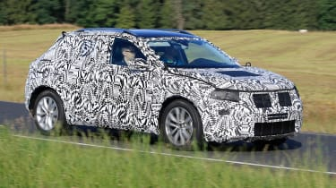 Volkswagen Polo SUV - spy shot front tracking 2