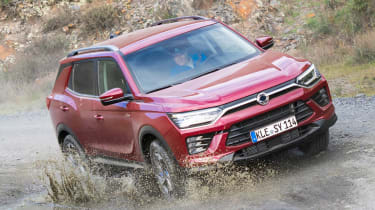 SsangYong Korando - front off-road action