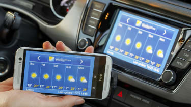 <strong>Technology:&nbsp;</strong>Amid an array of impressive tech features, MirrorLink stands out. It shows the display on your phone on the Fabia's central screen