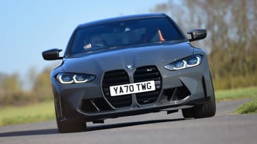 BMW M4 Competition - front cornering