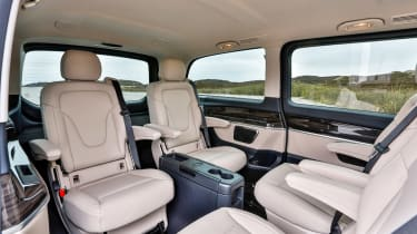 The V-class is packed with safety technology and scored a full five-stars from Euro NCAP.