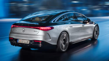 Mercedes EQS - rear action