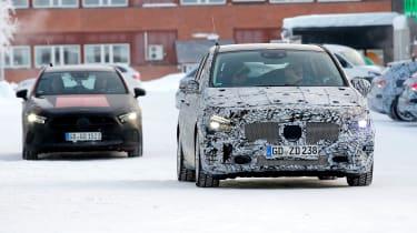 Mercedes B-Class third-gen spied - front