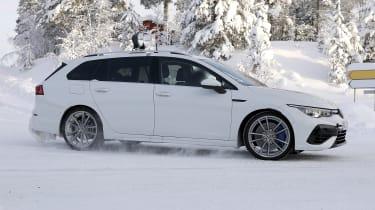 Volkswagen Golf R Estate - spy snow