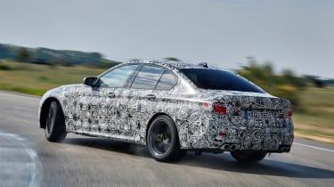 BMW M5 prototype - rear cornering
