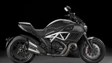 Ducati Diavel review - black and white