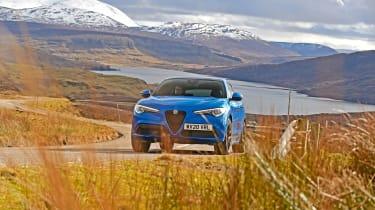 Stelvio's toughest test: We take Alfa's updated SUV on an epic Scottish trip: https://www.autoexpress.co.uk/alfa-romeo/stelvio/352201/alfa-romeo-stelvios-toughest-test