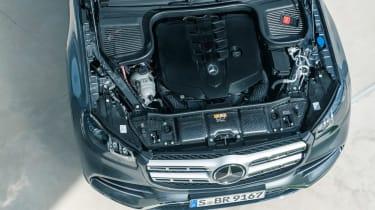 Mercedes GLS - grey engine