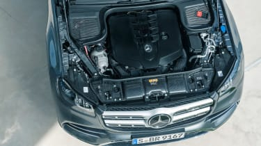 Mercedes GLS - grey engine