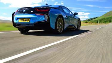 BMW i8 UK rear