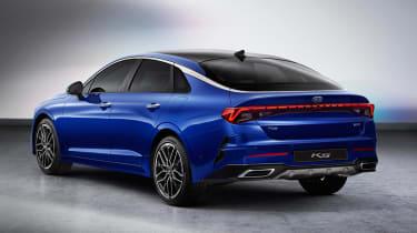 Kia Optima - blue rear