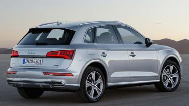Audi Q5 SUV - rear quarter silver
