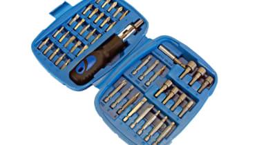Silverline Ratchet Screwdriver Bit & Socket Set 427611