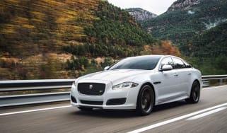 Jaguar XJ driving - front