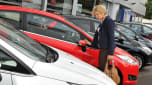 Car dealer forecourt shopping