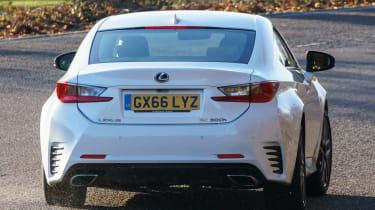 Lexus RC - rear cornering