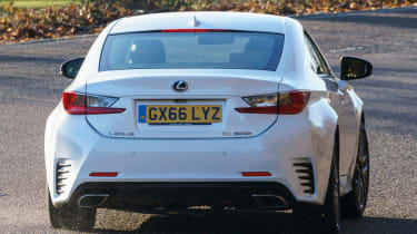 Lexus RC - rear cornering