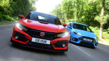 Honda Civic Type R vs Ford Focus RS - head-to-head