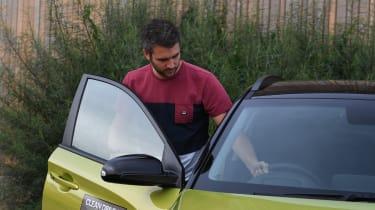 Hyundai Kona electric and Richard Ingram