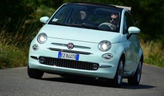 Fiat 500C 2015 driving
