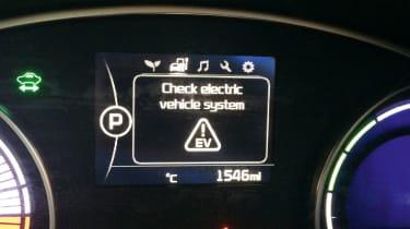 Kia Soul EV - warning message