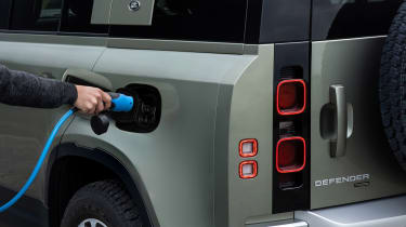 Land Rover Defender P400e PHEV - plugged-in
