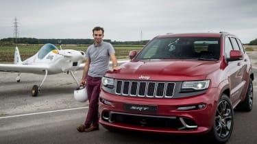 Jeep Grand Cherokee SRT8 vs plane - Batch