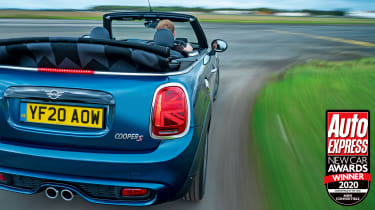 Fun, open-top thrills, affordable prices and decent running costs mark out the MINI Convertible as a winner.