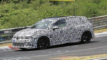 Volkswagen Golf GTI - spied front 3/4 cornering