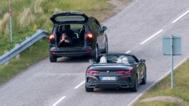 BMW 8 Series Convertible - spyshot photography