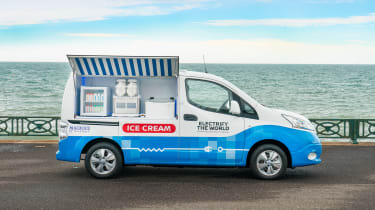 Nissan ice cream van - side static