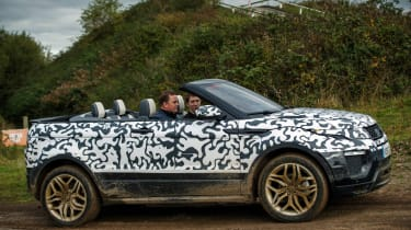 Range Rover Evoque Convertible passenger ride side