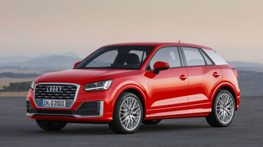 Audi Q2 red front side