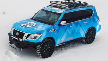 Nissan Armada Snow Patrol above