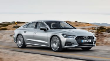 Audi A7 Sportback - front action grey