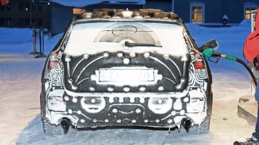 Volvo V60 spied - filling station full rear