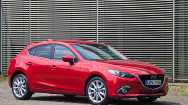 Mazda 3 front three quarters