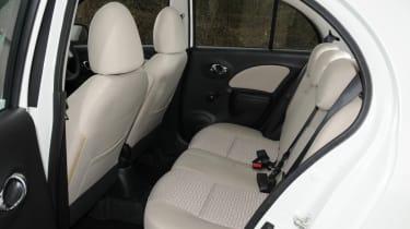 Nissan Micra DiG-S Shiro  rear seats