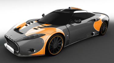 Spyker C8 Aileron - orange