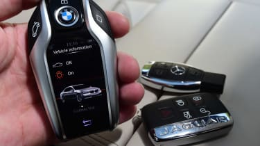 BMW 7 Series vs Mercedes S-Class vs Jaguar XJ - keys