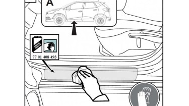 Renault Captur patent drawings side sills